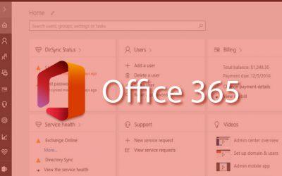 Administración del portal de Microsoft Office 365